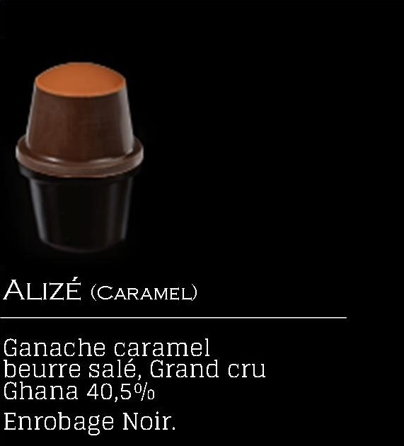 capsule chocolat, caramel