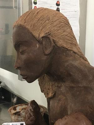 sculpture chocolat