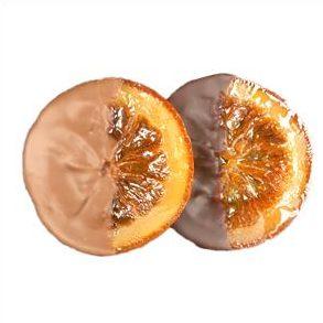 Soleils – 3 Oranges confites au chocolat